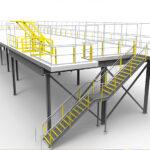 Modular mezzanine render